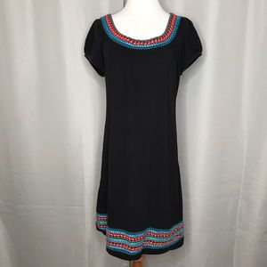 I.N.C embroidered shift dress